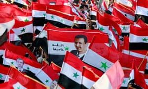 Pro Assad rally in Damascus