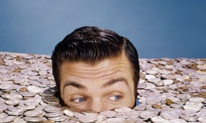 drowning money man