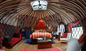 Glamping: inside a luxury yurt