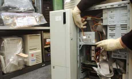 Seized computer equipment