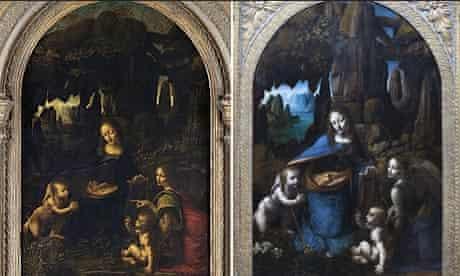 Leonardo da Vinci's Madonna and Virgin on the Rocks