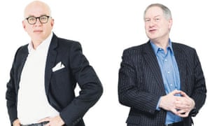 Michael Wolff (left) and commentator Roy Greenslade