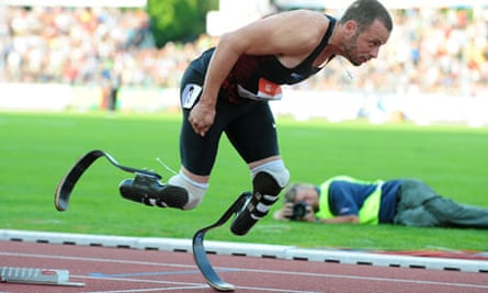 South Africa's Oscar Pistorius competes
