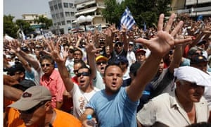 Greek taxi drivers protest