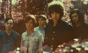 The Horrors photographed in a wood