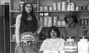 Leaf Fielding photographed in Reading Wholefoods in 1976.