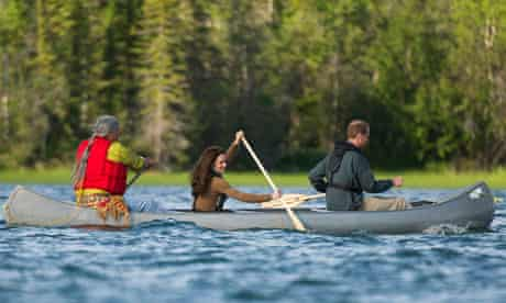 Prince William and Kate in canoe