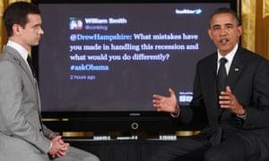 Barack Obama, Jack Dorsey