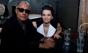 Abbas Kiarostami and Juliette Binoche