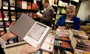 ebook in a book shop