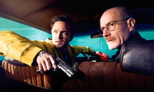 Aaron Paul and Bryan Cranston in an episode of cable channel AMC's Breaking Bad