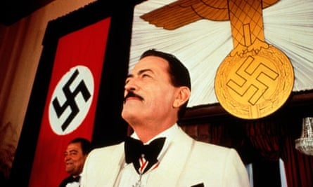 Gregory Peck as Dr Josef Mengele in the 1978 film version of The Boys from Brazil.