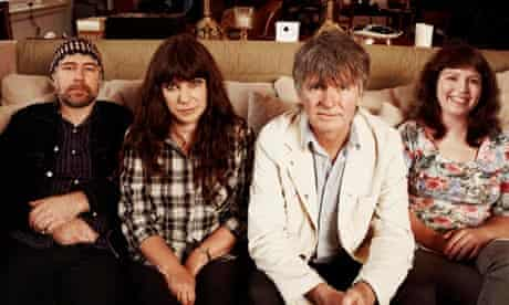 Neil Finn (third from left) with Pajama Party