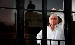 Peter Ackroyd at his office in Bloomsbury, London, 2009