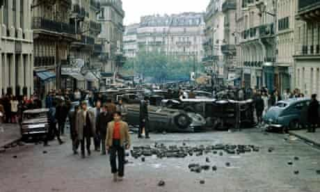 Students riot on the rue Gay-Lussac, Paris, 23 May 1968