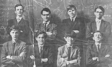 Simon Norton pictured in the Daily Mail in 1967 with other members of the British maths team