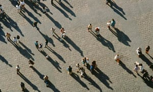 shadows of a crowd