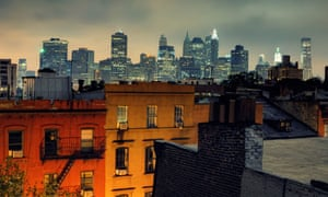 Manhattan's financial district as viewed from Brooklyn Heights
