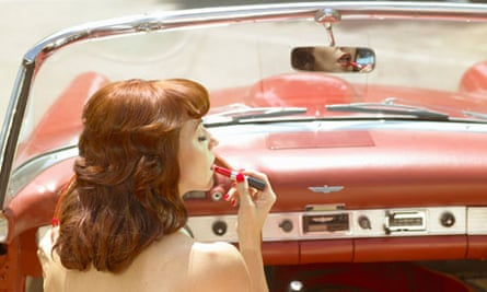 what makeup means for women lipstick in car