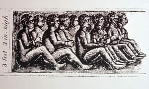 illustration  of slaves in a ship's hold