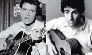 cliff richard (left) and nic jones playing guitars