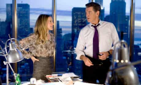 Sarah Jessica Parker and Pierce Brosnan in I Don't Know How She Does It.