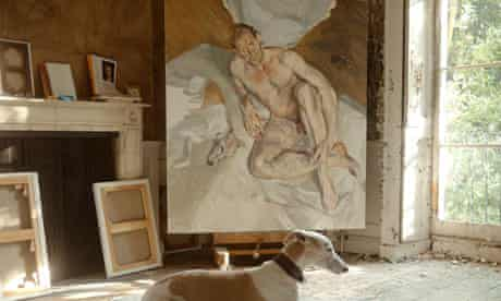 Lucian Freud's last painting