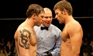 Tom Hardy and Joel Edgerton in the ring in Warrior.