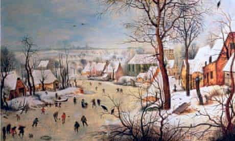 Winter Landscape with Birdtrap by Pieter Brueghel