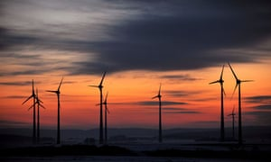 Wind turbines at dusk notes and queries