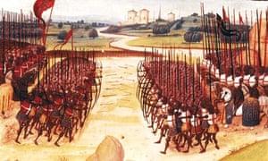 15th century illustration, battle of Agincourt
