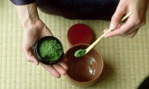 Japanese tea being prepared