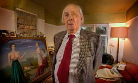 The late JG Ballard at home