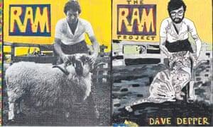 Paul McCartney's  1971 album Ram, (far left), and Dave Depper's 2011 version