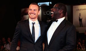 Michael Fassbender and Steve McQueen on the red carpet in Venice for Shame.