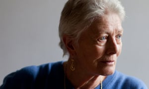 Vanessa Redgrave at home in london