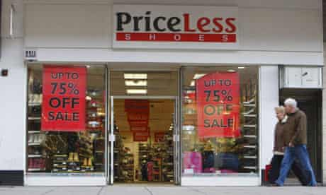 Barratts Priceless shop front with sale signs