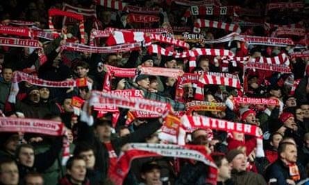 FC Union fans at the Alte Försterei stadium