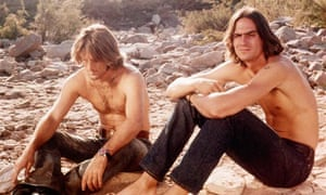Dennis Wilson and James Taylor in Two-Lane Blacktop.
