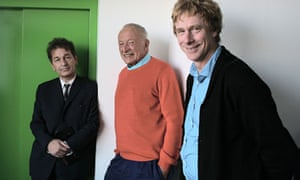 Richard Rogers (centre) and his partners Graham Stirk (left) and Ivan Harbour (right).
