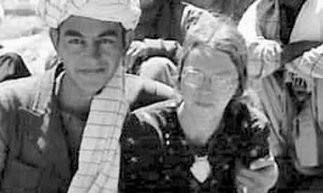 Clare Holtham, aged 23, with the Uzbek chieftain to whom she was married for 24 hours.