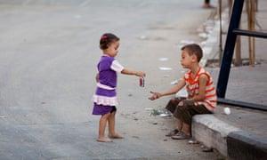 children in Gaza City