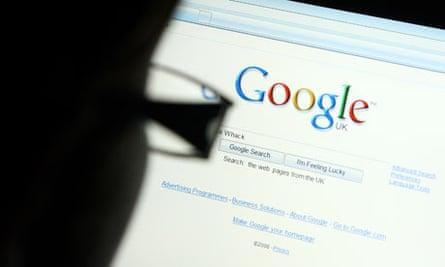 Man searching Google