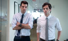 Zachery Quinto and Pen Bradley in Margin Call