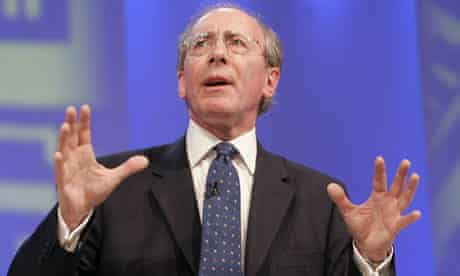 Conservative party leadership contender Rifkind addresses annual party conference in Blackpool
