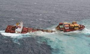 Cargo ship Rena breaks up off New Zealand   World news   The