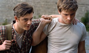 Sam Riley and Garrett Hedlund as Sal Paradise and Dean Moriarty in On the Road.