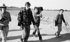 Director Walter Salles, actor Sam Riley and crew members of On the Road