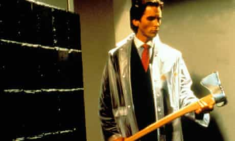 Christian Bale as Patrick Bateman in the 2000 film adaptation of American Psycho.