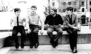 Bernard Sumner, Ian Curtis, Peter Hook and Stephen Morris